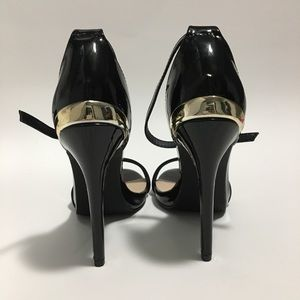 GORGEOUS strappy black heels — New in box!